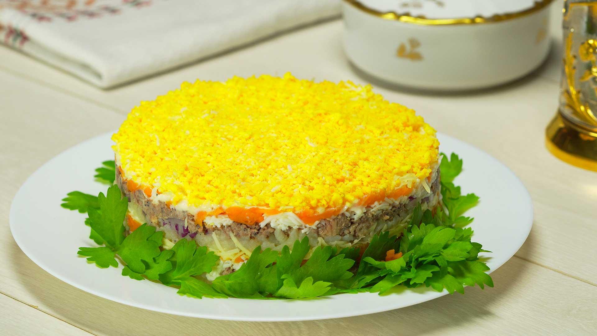 маркл салаты слоями рецепты с фото мимоза открытке день