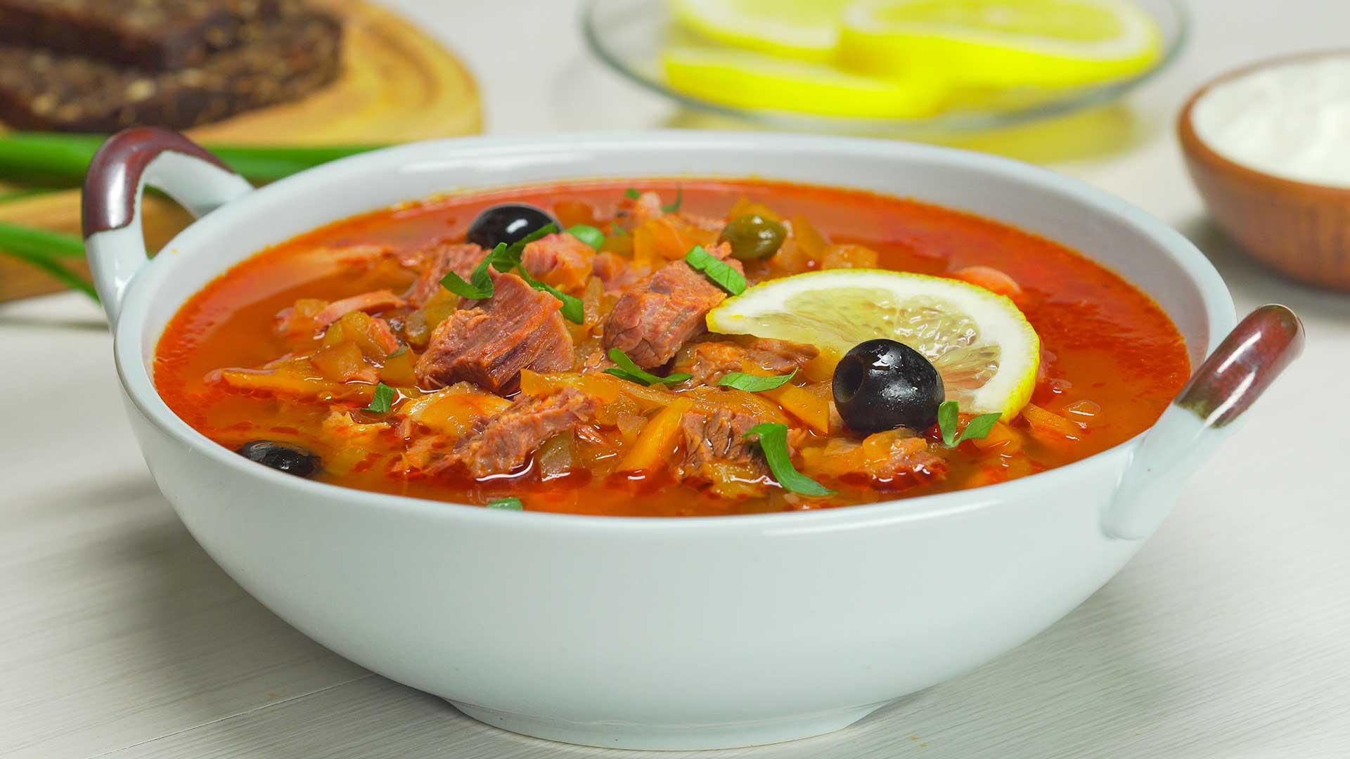 благоприятных суп солянка мясная рецепт приготовления с фото лесной