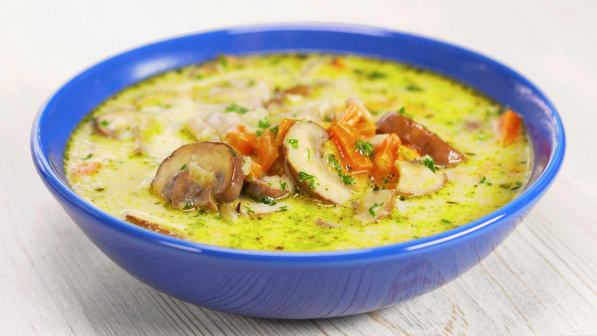 вегетарианские супы с грибами